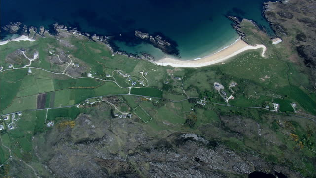View Across Lough Swilly  - Aerial View - Ulster, Donegal, Ireland video