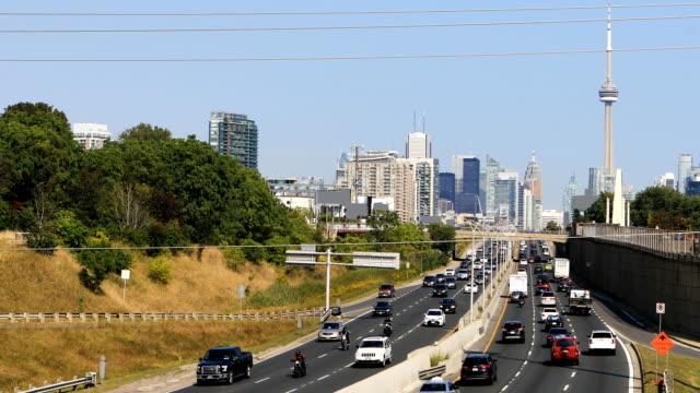 View at Gardiner Expressway in Toronto 4K video