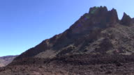 View from a car window going through Teide National Park in Tenerife video