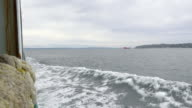 View from a Ferry in the Puget Sound Region of Washington State in the United States video