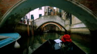 View from a gondola in canal video