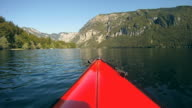 HD: View from a kayak. video