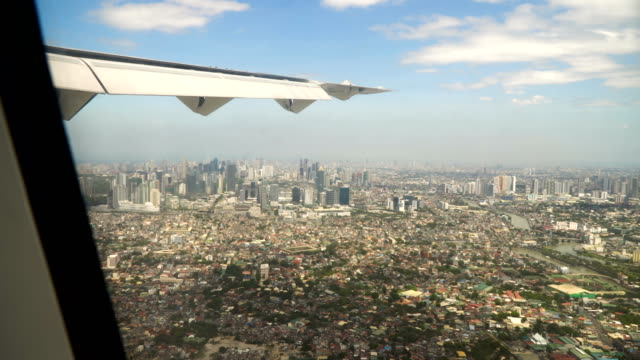 View from an airplane window.Manila, Philippines video