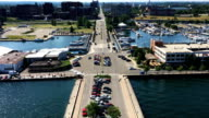 View from Bicentennial Tower in Erie, Pennsylvania video