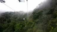 View from cable car for service tourism to mountains video