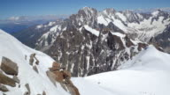 view from cablecar of Mont Blanc panoramic video