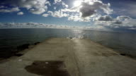 View from cement pier in Curonian Lagoon video