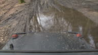 view from inside a four wheel drive video
