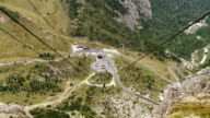 View from Lagazuoi Cable Car to Falzarego Pass TL video