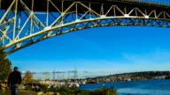 View from Lake Union, city of Seattle skyline video