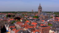 View from Nieuwe on Oude kerk, Delft, Netherlands video