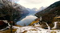 View from Otternes towards Aurland, Norway video