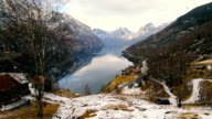 View from Otternest towards Aurland Norway video