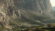 View from Passo Gardena on the Dolomites video
