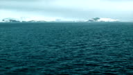 View from Ship Sailing in the Frozen Antarctica Ocean video