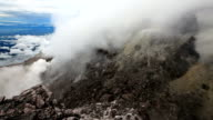 View from the top of Merapi mount. video