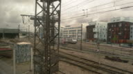 View from the train window. video