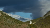 view from Tibetan Temple Songzanlin Monastery in Shangri-la Town of Yunnan, China video