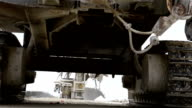 View from under the drilling machine video