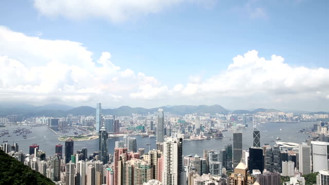 HD VDO : View from Victoria Peak to the bay video