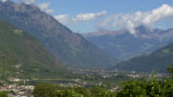 View from Vinschgau Valley and Naturns in South Tyrol video