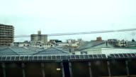 View from windows of  high speed train in Japan video