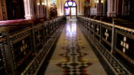 Sharm el-Sheikh, Egypt - November 30, 2016: View inside the Coptic Church beautiful painted walls and ceilings on religious themes video