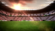 View of a rugby stadium with sunny weather video