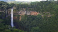View of a tropical waterfall video