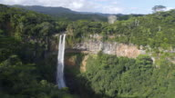 View of a tropical waterfall . video