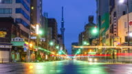 View of Asakusa district in Tokyo, Japan video