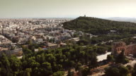 View of Athens from the Acropolis video
