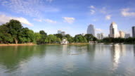 View of Bangkok Cityscape from Lumpini Park video