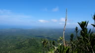 View of Baracoa and Caribbean Sea Coastline from El Yunque Mountain Top video