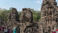 view of Bayon temple at Angkor in Siem Reap. video