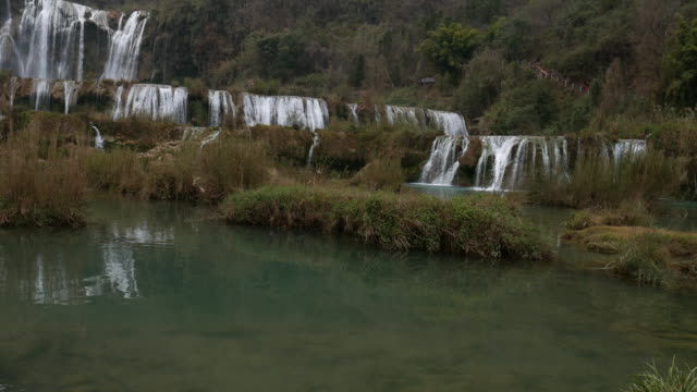 View of beautiful with Jiulong waterfall in Luoping, China video