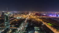 T/L WS HA View of Busy Overpass at Night / Beijing, China video