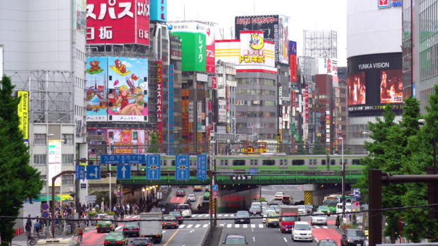 View of Busy Streets in Shinjuku video