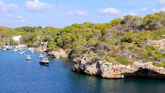 View of Cala Figuera bay ( Santanyí ) of Balearic Islands Majorca / Spain video