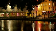 View of Canal St. Martin in Paris, France video