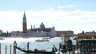 View of church of San Giorgio Maggiore in Venice, Italy video