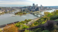 View of downtown Pittsburgh video