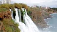 View of Duden Waterfall in Antalya, Turkey video