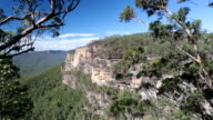 View of escarpment in Blue Mountains National Park video
