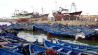 View of  Essouira port, Morocco video