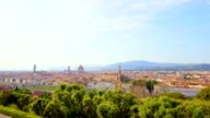 view of Florence at sunset, Italy video