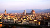 view of Florence at the sunrise time from the viewpoint video