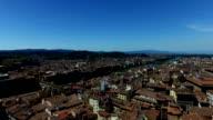 4K View of Florence Cityscape towards the River Arno video