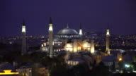 View of Hagia Sophia, Christian patriarchal basilica, imperial mosque, museum video