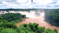 View of Iguazu waterfalls in Brazil video